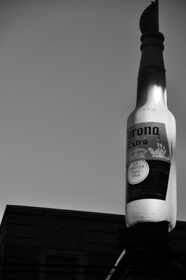 Giant light-up Corona bottle