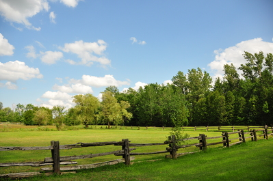Pastoral scene at Michael's Wedding place (Westfield Heritage Village)