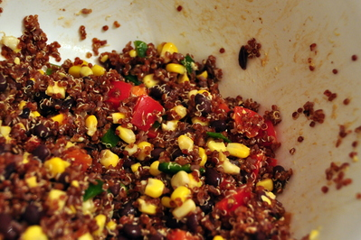Corn Black Bean Quinoa salad