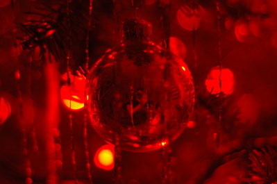 My reflection in a Christmas ball on my mom's tree