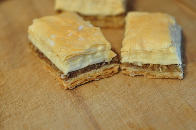 Home-made baklava