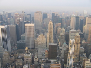 Picture from the Empire State Building looking north over the city