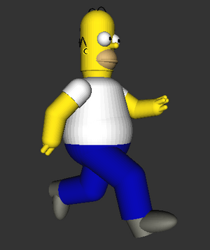Puppet Homer Running or Something