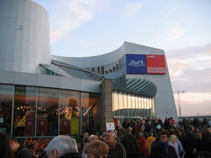 Chocolate musuem, so busy!