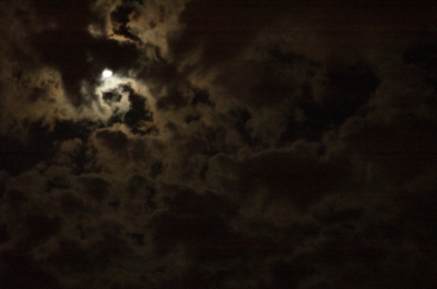 The moon and the clouds