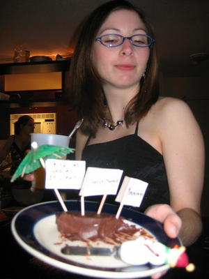 Jen with cheese fudge