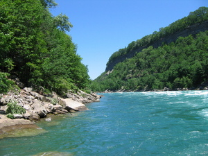 The view down stream of the Niagara River