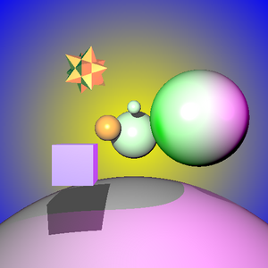 Ray Tracer sample scene version one