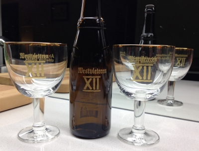 Westvleteren XII glasses and bottle!
